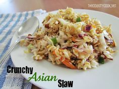 CRUNCHY ASIAN SLAW...     1 (16 oz.) bag cole slaw mix   1 bunch green onions, chopped  3 packages beef flavored Ramen noodles   1 cup sliced almonds  1/4 cup butter, melted  1/2 cup granulated sugar  1/2 cup olive oil  1 tsp. Worcestershire sauce  1/4 cup red wine vinegar