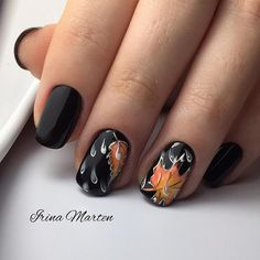 See the most inspiring fall leaves nail art. We gathered fresh ideas of autumn nail designs that are worth trying this season. Cute Nails, Pretty Nails, My Nails, Hair And Nails, Seasonal Nails, Holiday Nails, Autumn Nails, Winter Nails, Gel Nails French