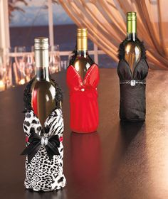 Dress Up Wine Totes. Perfect for a gift!