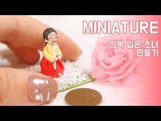 Miniature Korean Hanbok Chibi polymer clay tutorial