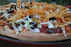 Taco Pizza {Using Up Leftovers} - Cookes Frontier