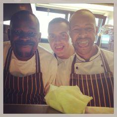 Razy, Ernie & Carlos - obviously working hard