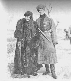 "Countess Natalie Brasova visiting the Grand Duke Mikhail Alexandrovich Romanov of Russia at the front. ""AL"""