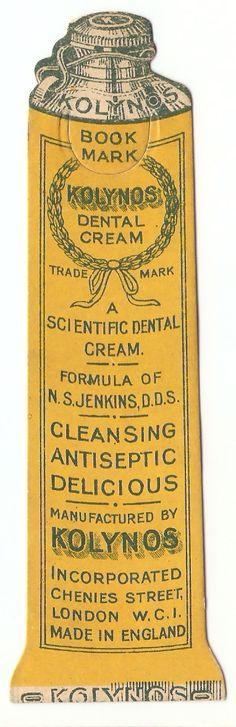 Dental Cream pinned by Karen Alvarado