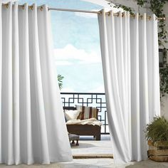 White Indoor/Outdoor Grommet Curtain Panel  at Joss and Main