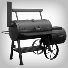 BBQ Smoker Wood & Charcoal Burning Item #2001 Yosemite - 1093 Sq. In. Surface with Firebox