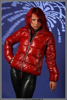 Nylons, Puffer Jackets, Winter Jackets, Shiny Leggings, Fashion Heels, Sexy, Leather Pants, Jackets For Women, Womens Fashion