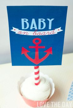 Another fun and unique was to use your printable parties! 5X7 Signs work as cupcake toppers.
