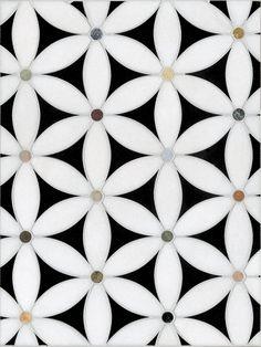Flora mosaic by Appomattox Tile Art