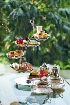High tea set at Tiffin, Grand Hyatt HK