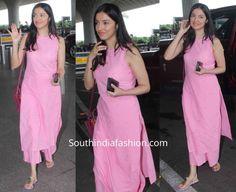 Divya Khosla Kumar in a pink palazzo suit at the airport Simple Kurta Designs, Kurta Designs Women, New Kurti Designs, Indian Designer Outfits, Indian Outfits, Pakistani Outfits, Casual Indian Fashion, India Fashion, Woman Fashion