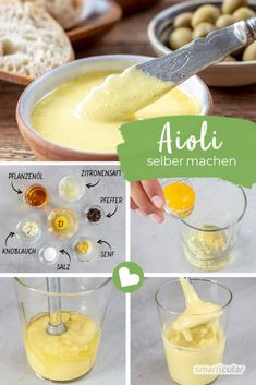 Simply make aioli yourself: This is how the delicious garlic succeeds .- The Mediterranean garlic cream Aioli is the perfect addition to many dishes. It can be done in a few minutes and consists of just a few ingredients. Coffee Recipes, Apple Recipes, Dinner Recipes Easy Quick, Quick Easy Meals, Desserts For A Crowd, Dessert Recipes, Dip Recipes, Smoothie Recipes, Aioli Sauce