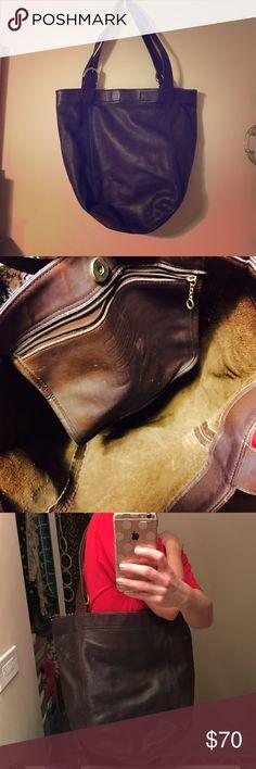Vintage Coach Bucket Bag Roomy shoulder bag that has one pocket on the inside. Coach Bags Shoulder Bags