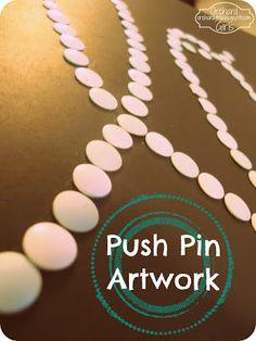 Orchard Girls: DIY: Push Pin Artwork