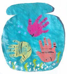poisson empreintes main
