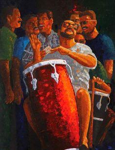 Puerto Rican Music, Latino Artists, New York Exhibitions, Puerto Rico History, Porto Rico, Puerto Rican Culture, Music Illustration, Caribbean Art, Afro Art