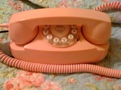 The cutting edge communication technology of the 70's! The princess phone.