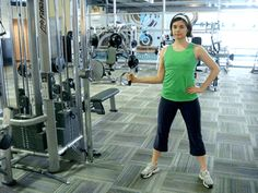 A great move for strengthening the rotator cuff: Internal rotation on the cable cross machine. | via @SparkPeople