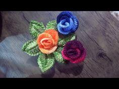 Crochet Small Flower, Crochet Flower Tutorial, Crochet Flowers, Hand Embroidery Patterns Flowers, Crochet Flower Patterns, Crochet Doilies, Diy Jewelry Gifts, Crochet Earrings Pattern, Yarn Flowers