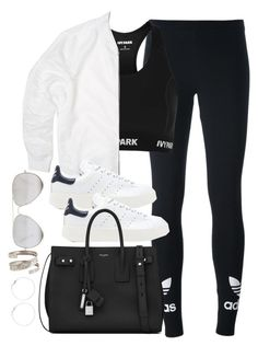 """Untitled #3690"" by theaverageauburn ❤ liked on Polyvore featuring adidas Originals, Topshop, Yves Saint Laurent and Sunny Rebel"