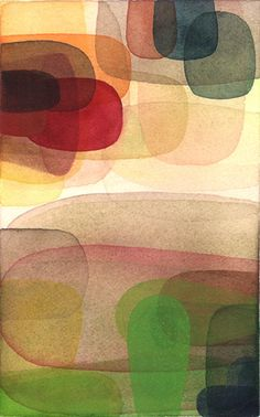 "Philip Kirk / ""Towards Light"",  8 x 5 inches, Watercolor on Arches cp 140 lb. May 2007"