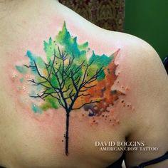 David Boggins: Watercolor tree