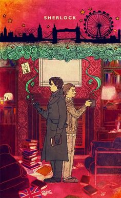 Sherlock Holmes and John Watson Sherlock Holmes, Fan Art Sherlock, Moriarty, Sherlock John, Sherlock Poster, Sherlock Series, Sherlock Fandom, Johnlock, John Watson