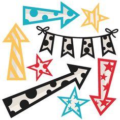 Freebie of the Day! Arrows Stars and Banner Set Model/SKU: arrowstarsbanner080516