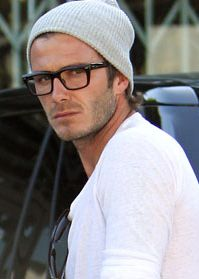 Becks + beanie + glasses. Perfection.