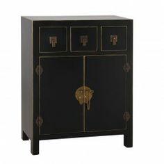 Mueble oriental japon s saiki aparador negro 14 cajones - Mueble oriental madrid ...