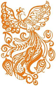 Жар-птица. Роспись + Картинки + Шаблоны. Обсуждение на LiveInternet - Российский Сервис Онлайн-Дневников