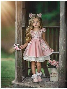 Dresses Kids Girl, Little Dresses, Cute Dresses, Kids Outfits, Flower Girl Dresses, Cute Little Girls, Cute Baby Girl, Little Girl Fashion, Fashion Kids