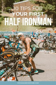 Prepping for your first half-Ironman? There are several powerful things you can do to boost your stamina and endurance before taking on a tough running, swimming, and cycling challenge. Click through to learn our top 10 triathlon training tips! Ironman Triathlon Motivation, Ironman Triathlon Tattoo, Timex Ironman Triathlon, Triathlon Swimming, Triathlon Women, Triathlon Gear, Triathlon Clothing, Triathlon Strength Training, Half Ironman Training Plan