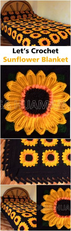 Crochet SunFlower Blanket