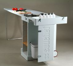 Portable fold out kitchen