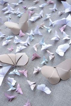 85 Papillons Origami Décoration Assortiment par LaureDaintyArt