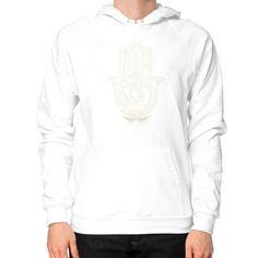 Hamsa Hand of Fatima Hoodie (on man)