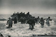 Normandy, coming ashore.