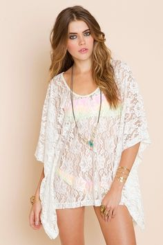 lace swimsuit coverup