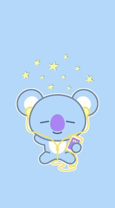 Kawaii Koala Duvet Cover by kawaiistudio - Queen: x Cute Disney Wallpaper, Emoji Wallpaper, Kawaii Wallpaper, Cute Cartoon Wallpapers, Wallpaper Iphone Cute, Aesthetic Iphone Wallpaper, Aesthetic Wallpapers, Iphone Wallpapers, Heart Wallpaper