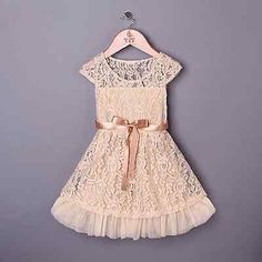 The perfect flower girl dress for your rustic wedding or for everyday wear. Wear…