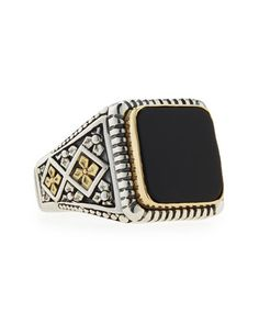 Men\'s+Onyx+Square+Ring,+Size+10+by+Konstantino+at+Neiman+Marcus.