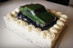 Homemade by MI: 40 v. autokakkua / Car cake for 40th birthday part...
