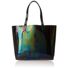 LOEFFLER RANDALL Open Tote Bag (7.213.245 IDR) ❤ liked on Polyvore featuring bags, handbags, tote bags, iridescent, white tote bag, white tote purse, tote handbags, white tote and loeffler randall purse