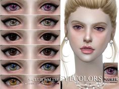 Eyecolors, 15 swatches, hope you like, thank you. Found in TSR Category 'Sims 4 Eye Colors' Sims 4 Cc Packs, The Sims4, Sims 4 Mods, Sims Cc, Eye Colors, Swatch, Ts4 Cc, Make Up, Cosmetics