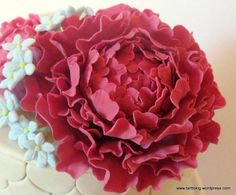 Non wired gumpaste peony tutorial