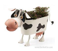 Elke the Cow Planter Decor (Garden fun)