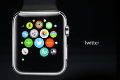 Magnify, scrool and navigate using the digital crown on the side of the Apple Watch