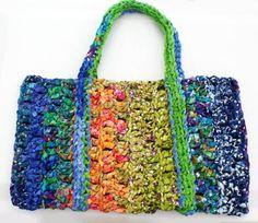 Fabric Crochet Tote Bag Pattern: Use It As a Beach Bag, Book Bag, Market Bag or Purse