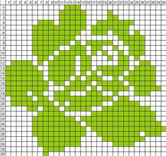 Cross Stitch Tree, Modern Cross Stitch, Cross Stitch Flowers, Cross Stitch Designs, Cross Stitch Patterns, Pixel Crochet, Crochet Chart, Crochet Motif, Crochet Flowers